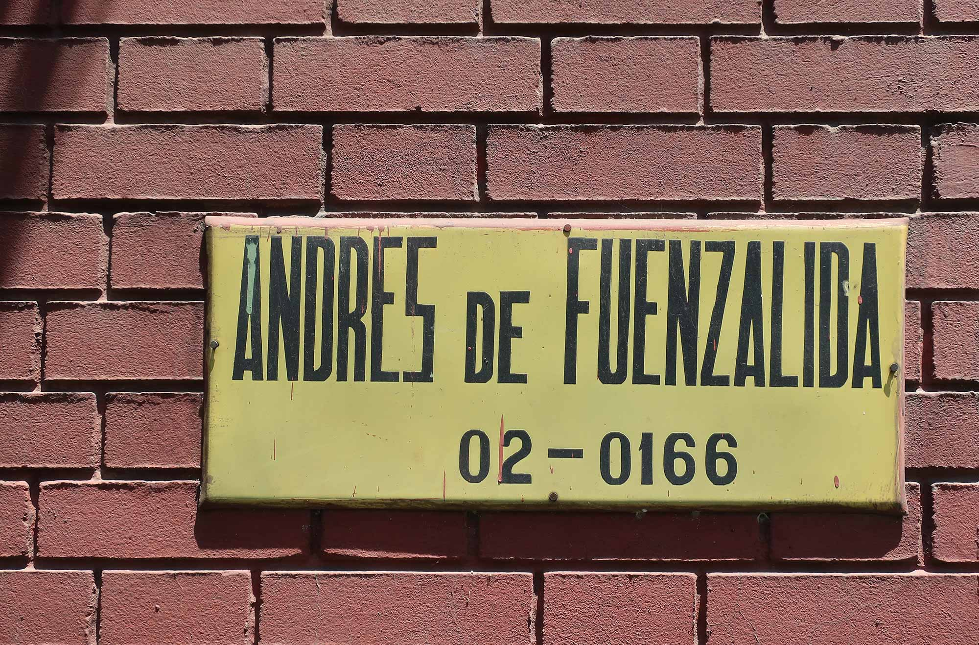 Street sign from the Barrio Providencia Area in Santiago de Chile.